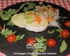 Queso Tomino tostado con verduras