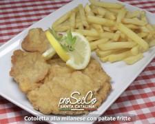 Cotoletta alla milanese con patate fritte