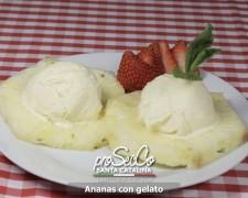 Piña con helado