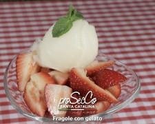 Fresas con helado